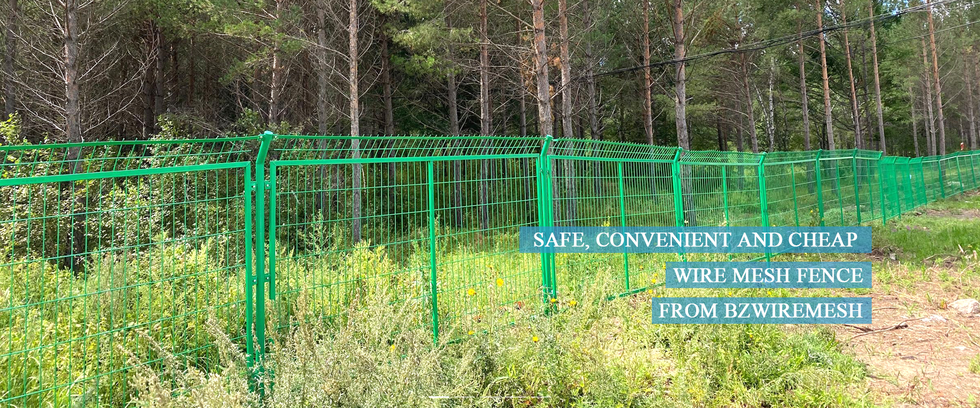 Wire mesh fence applications
