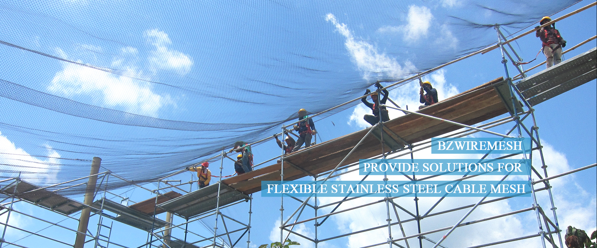 Stainless steel cable mesh for zoos