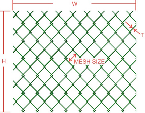 Chain-link wire mesh fence