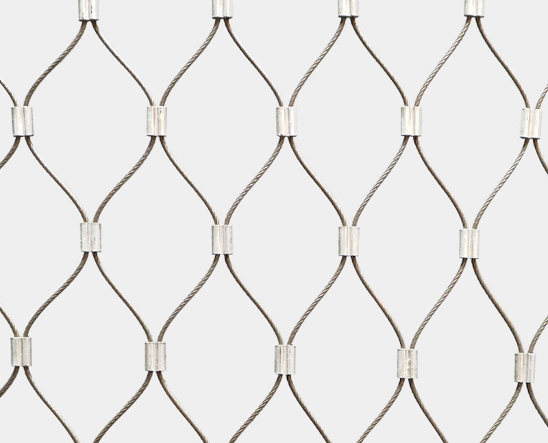Stainless steel cable Al-ferrule mesh