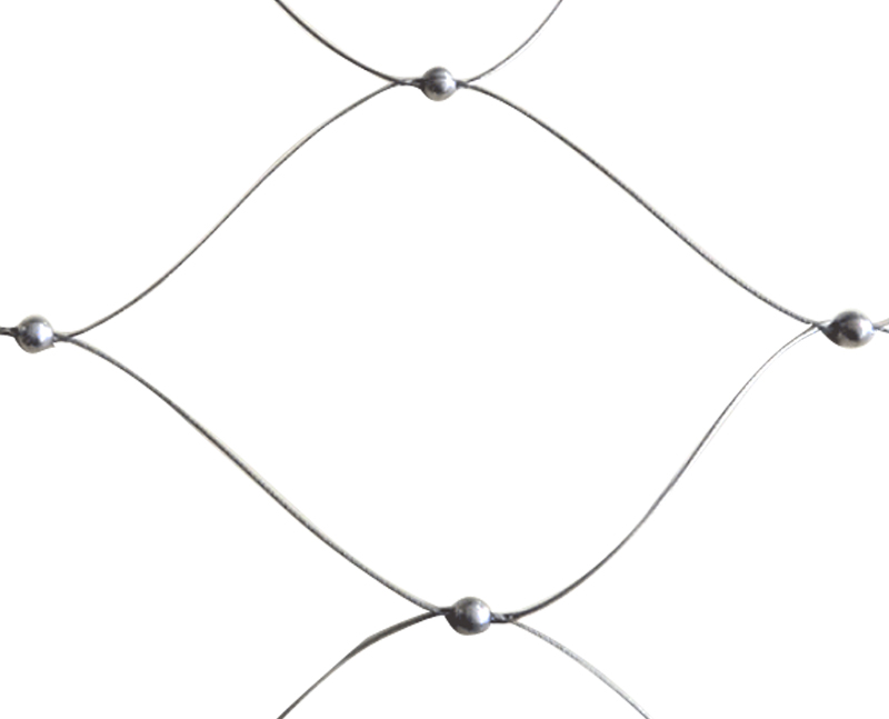Stainless steel cable bead mesh