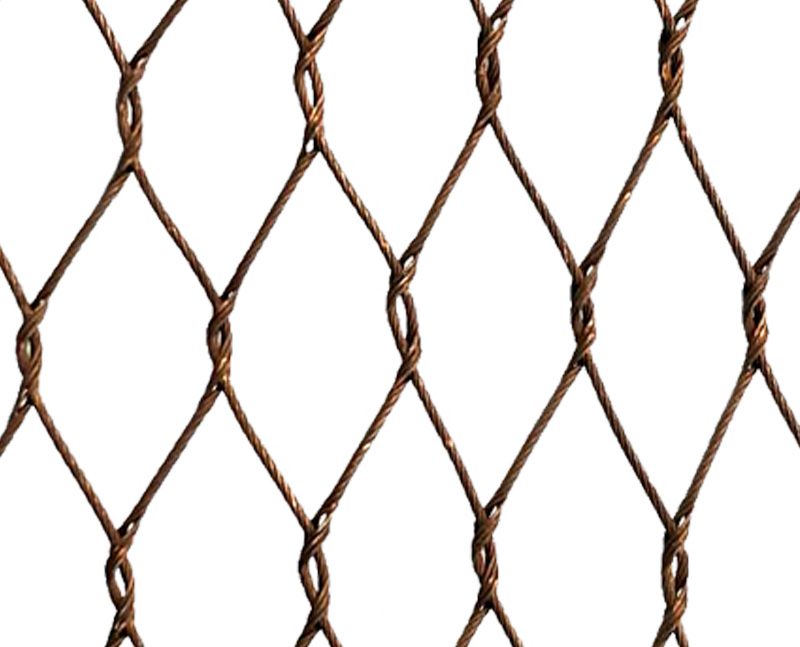 Stainless steel cable bronze oxided mesh