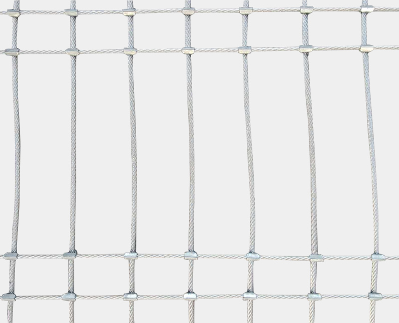 Stainless steel cable cross buckle mesh