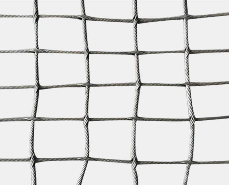 Stainless steel cable square woven mesh