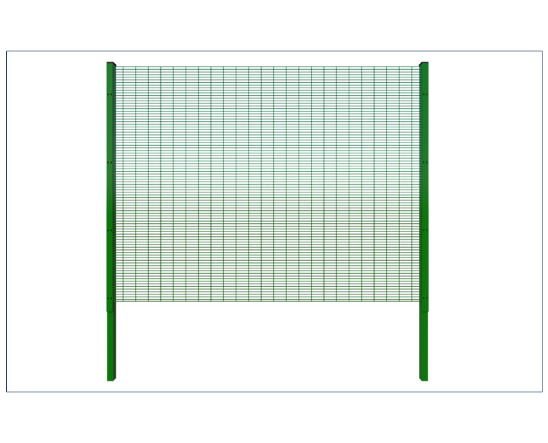 Anti-climb wire mesh fence