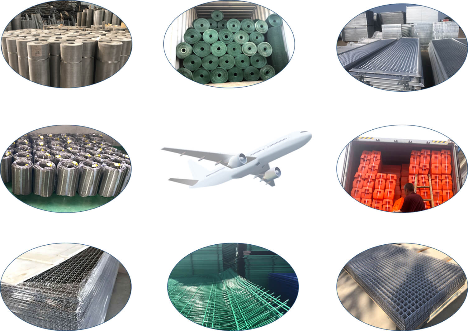 Wire mesh products delivered to all around the world