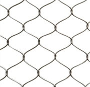 Stainless steel cable inter-woven mesh