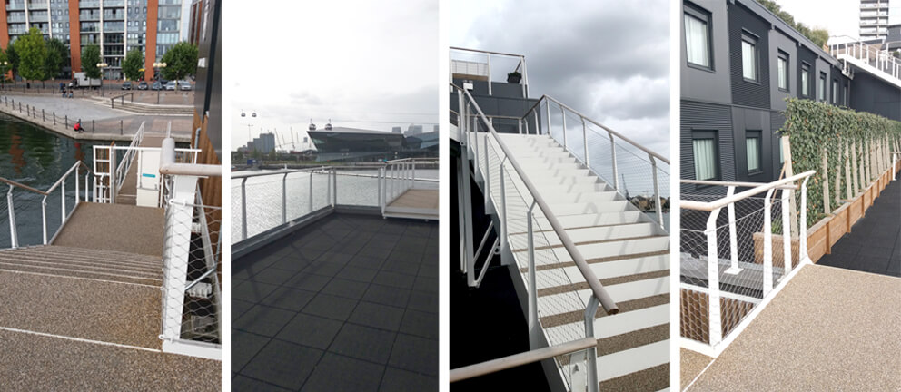 Hand rail system in London